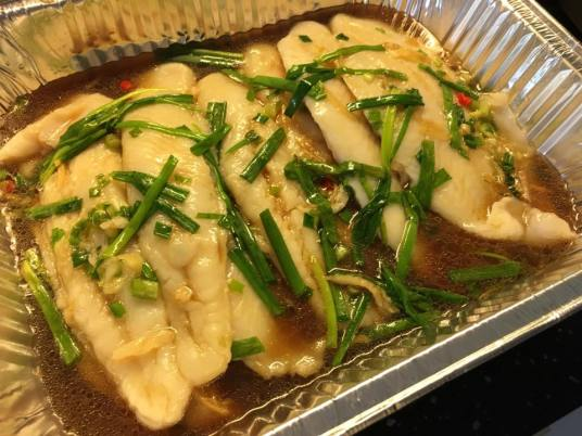 HK steamed sutchi fillets