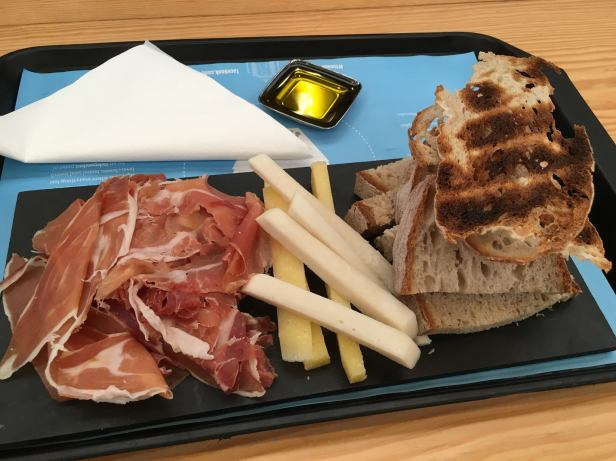 prosciutto, cheese, wine from manteigaria silva