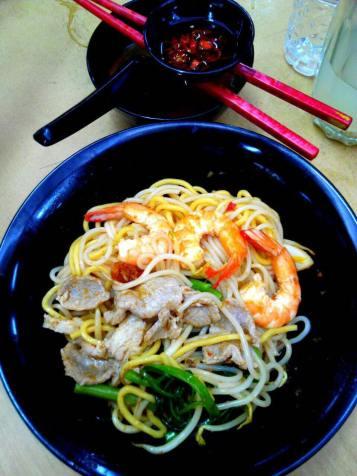 S$3.50 prawn noodles dry