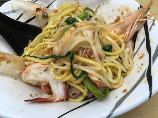 S$7 big prawns with pork ribs
