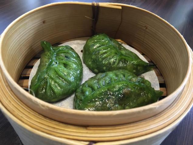 spinach musroom dumpling