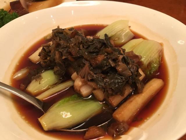 steamed mei cai eggplant & wawa cai S$18