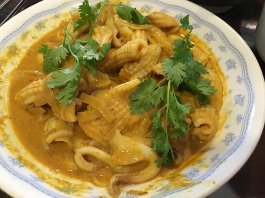 thai dry yellow curry sotong