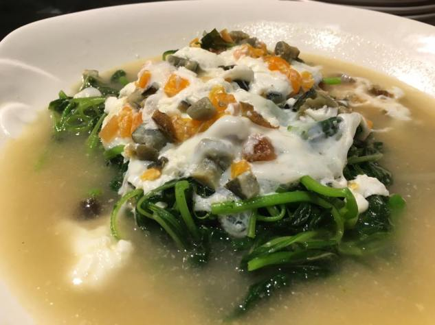 3 egg heng chai (spinach)