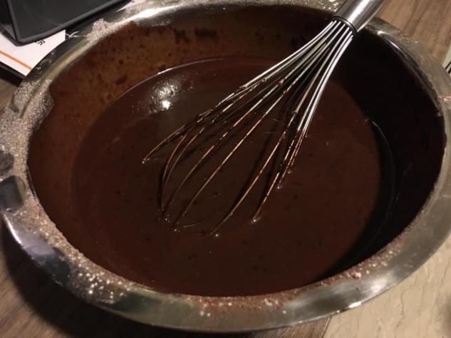 cake mixture before baking