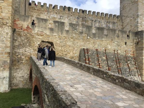the fortified central keep of castelo sao jorge