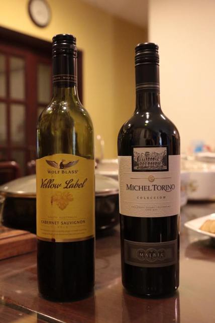 great wines brought by 2 friends