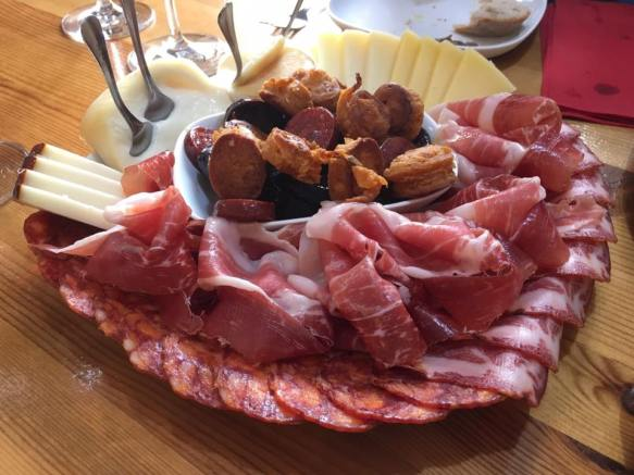 ruby port & tawny port - proscuitto 24months & 36months, 3 chorizos & cheese...3 port, 3 proscuitto, 4 cheese, 3 chorizo
