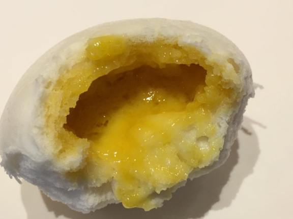 salted egg custard bun