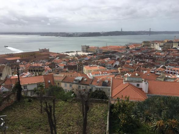 View from castelo sao jorge