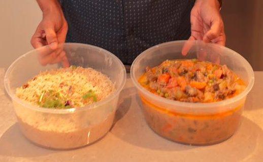 mutton stew + pilaf rice