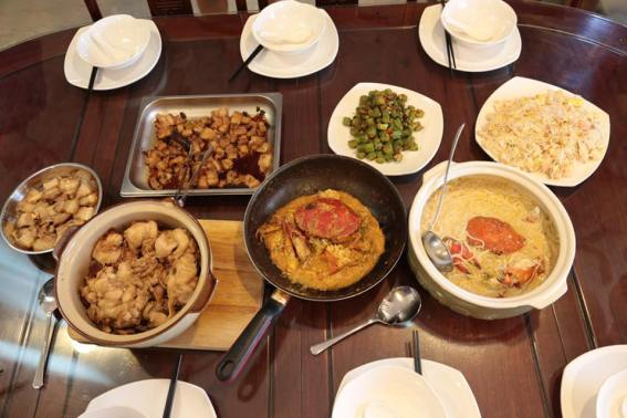 7 course claypot rice lunch