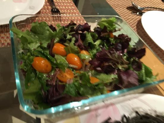 cherry tomatoes & mesclun