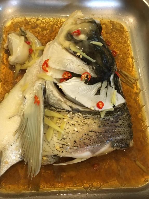 HK steamed song fish head 港蒸松鱼头
