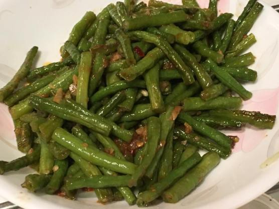 long beans in nonya sauce