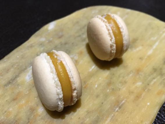 petit four - salted eggg macaron