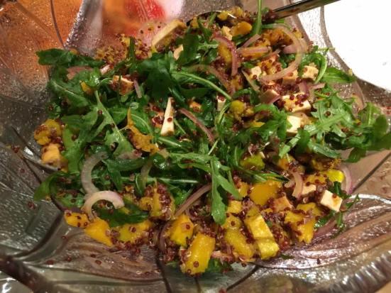 quinoa pumpkin tofu salad