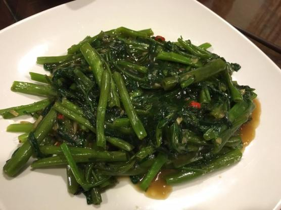 stir-fried kang kong