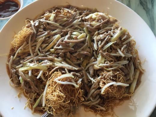 duck meat crispy noodles san meen