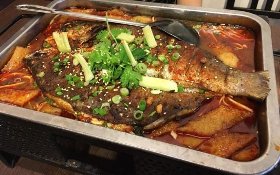 重庆烤鱼 chong qing grilled fish
