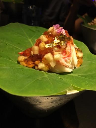 hokkaido crab with yuzu jelly