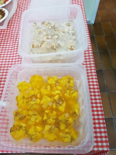 lychee & mango konnyaku jelly