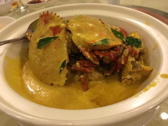 pumpkin sauce crab
