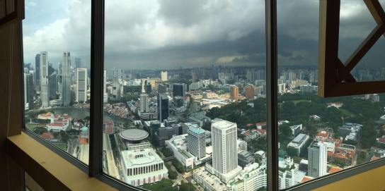 raffles place - view from equinox level 70