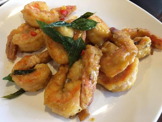 salted egg prawns