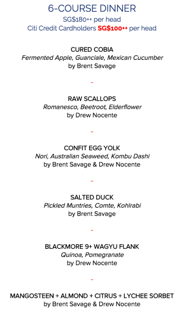 salted & hung 6-course 100gourmet dinner on 21.7.2016