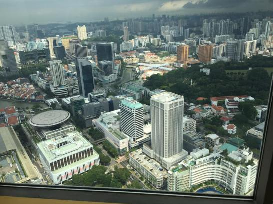 singapore river - view from equinox level 70