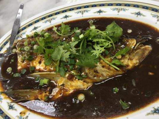 spicy black bean paste fish head