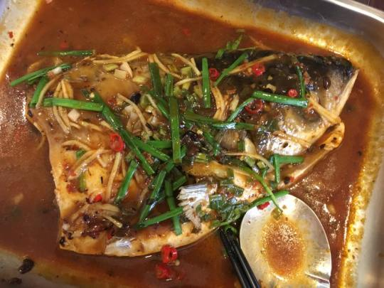 spicy black bean sauce song fish head松鱼头