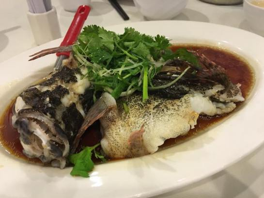 steamed soon hock - about S$30