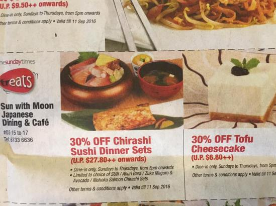 30% off chirashi don set by sunday times treats