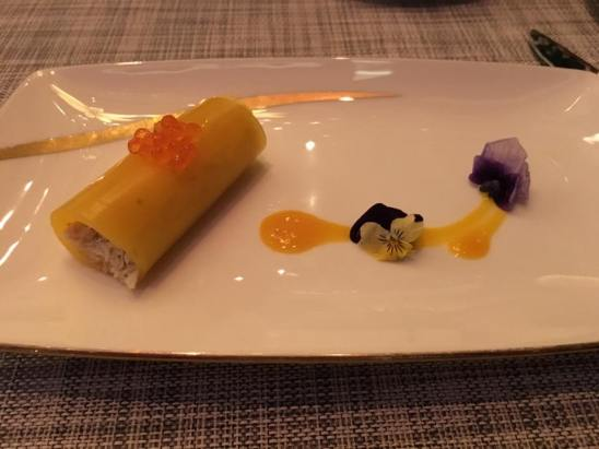 amuse bouche - crabmeat wrap