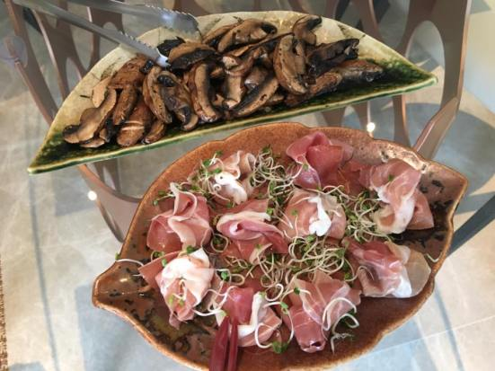 proscuitto & portobello mushrooms