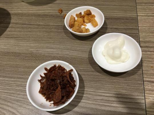 shallots, crispy lard (lar pok)