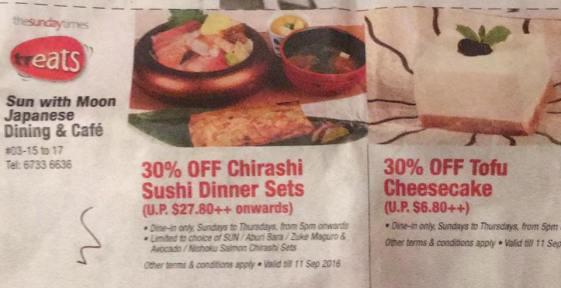 30% off chirashi don set