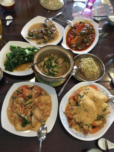 7 dishes for 5pax RI friends lunch