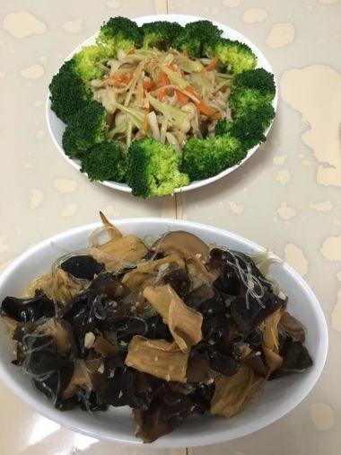 brocoli & fungus dish