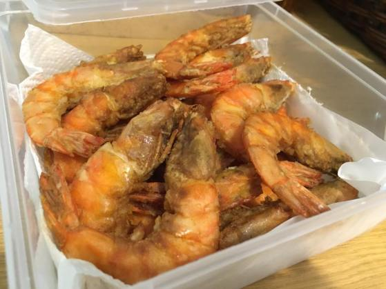 a friend brought cereal prawns - it was very good