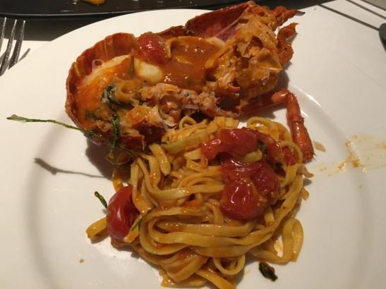 lobster taglialini is excellent...