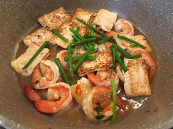 prawn tofu - recreating sik bao sin's dish