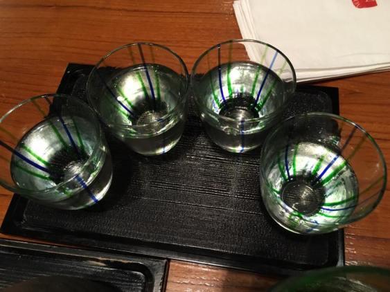 S$15 sake sampler