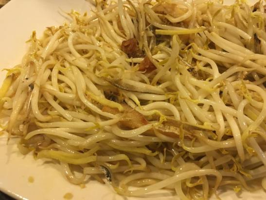salted fish with bean sprouts