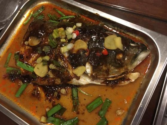 spicy black bean sauce song fish head松鱼头