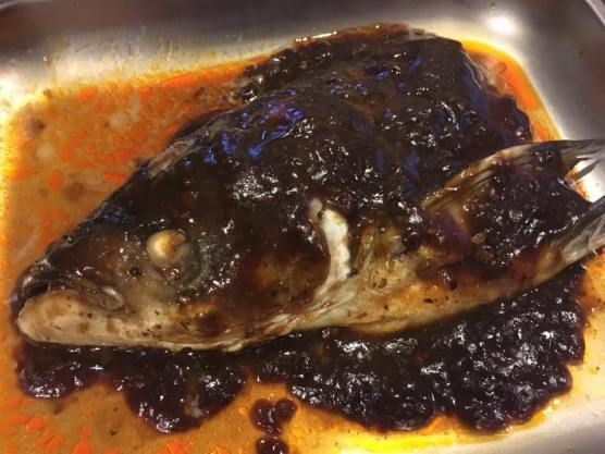 spicy black bean sauce-song fish head 松鱼头