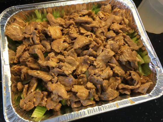 stir-fried lean meat & salted fish celery