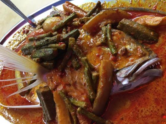 thai style fish head curry